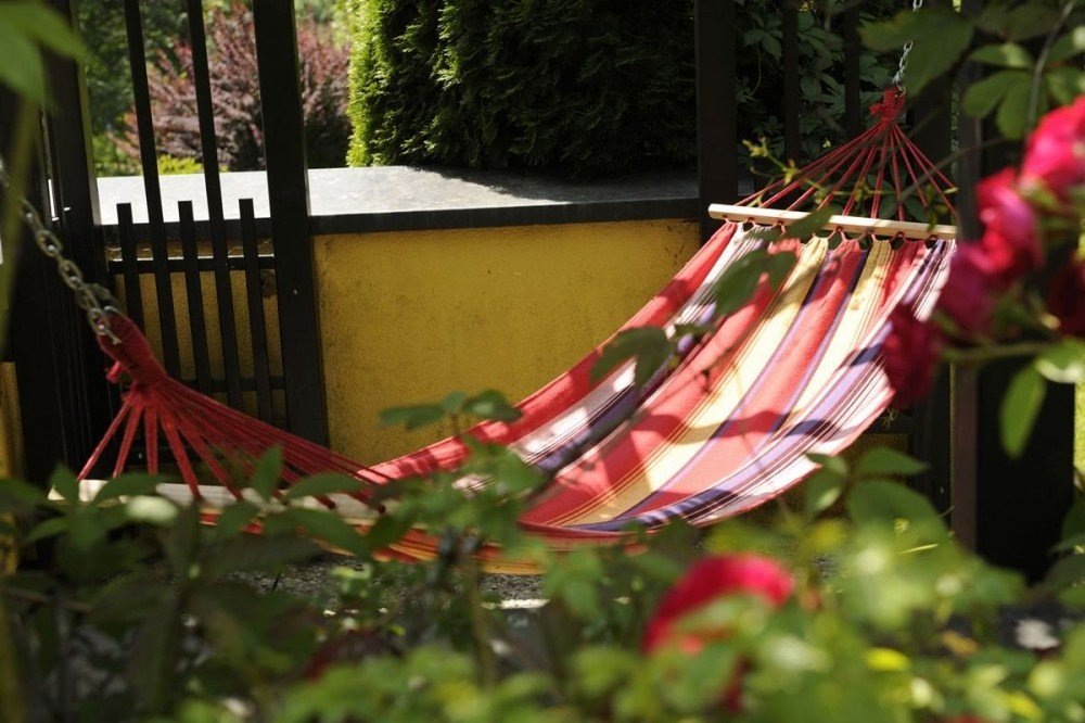 Relax in a hummock in our Rooftop Garden