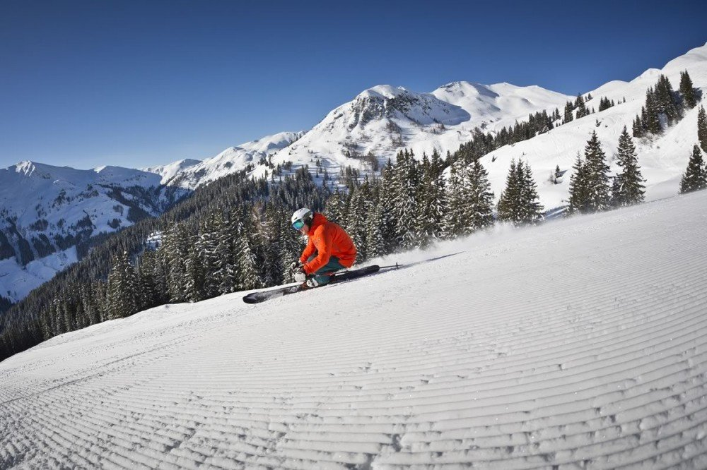 Best slope conditions for skiing in Saalbach